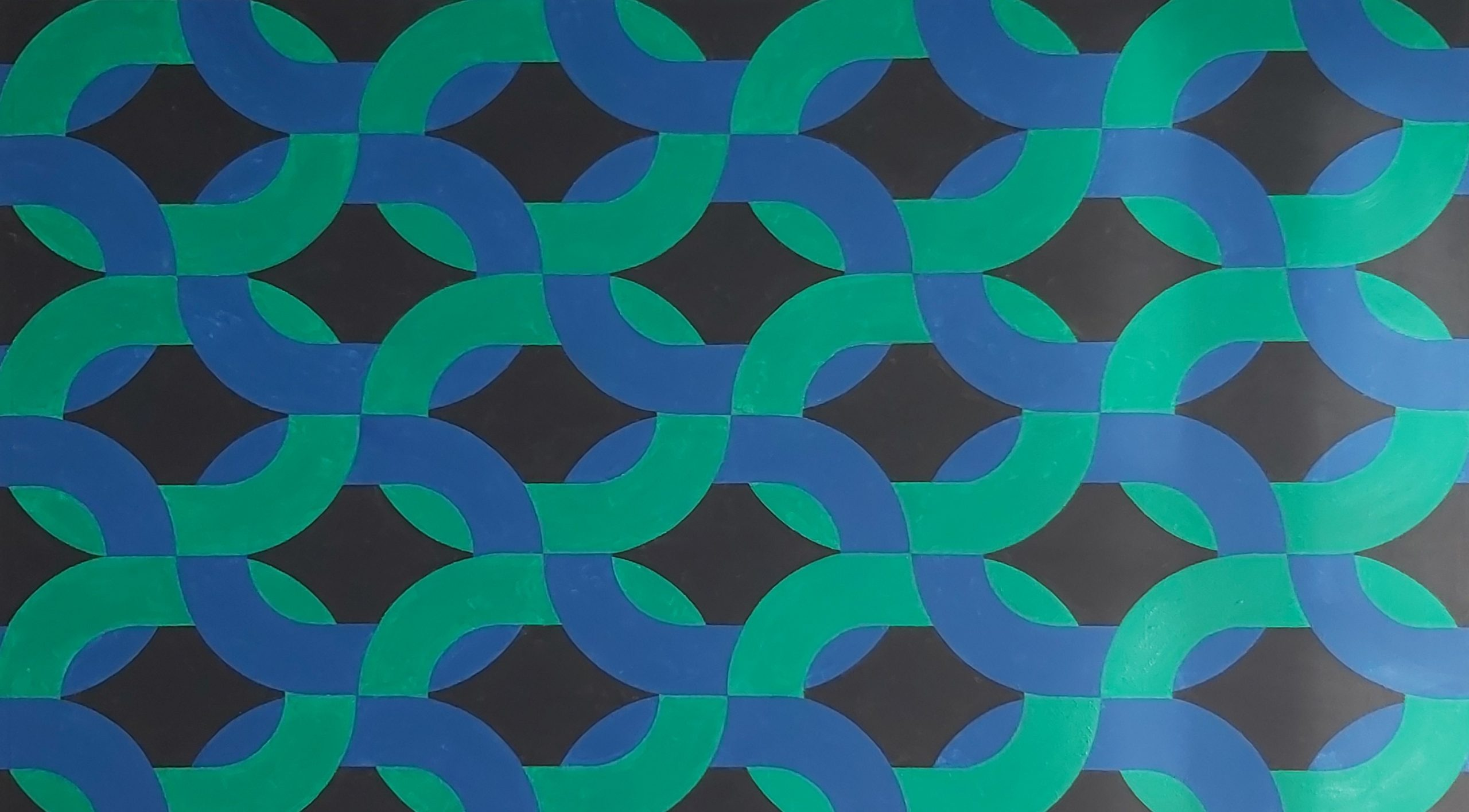 Silsila (Blue Green) 2020 Acrylic on Canvas 173 x 99 cm