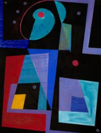 Conversation 1998 Acrylic on Canvas 138 x 104 cm
