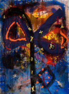Crystal Laugh 1991 Acrylic on Canvas 147 x 103 cm