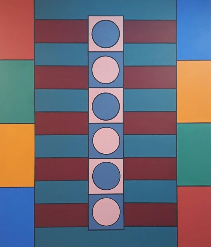 Panta Rei 2017 Acrylic on Canvas 220 x 186 cm