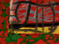 Red and Green 1981 Oil on Canvas 46 x 61 cm