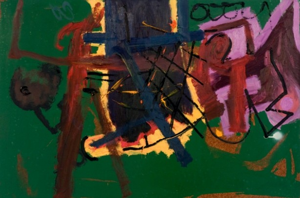 Untitled (Green) 1980 Oil on Board 61 x 91.5 cm