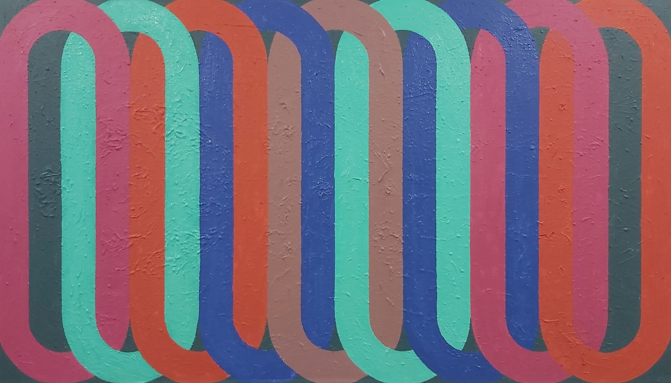 La Source 2019 Acrylic on Canvas 91.5 x160.5 cm