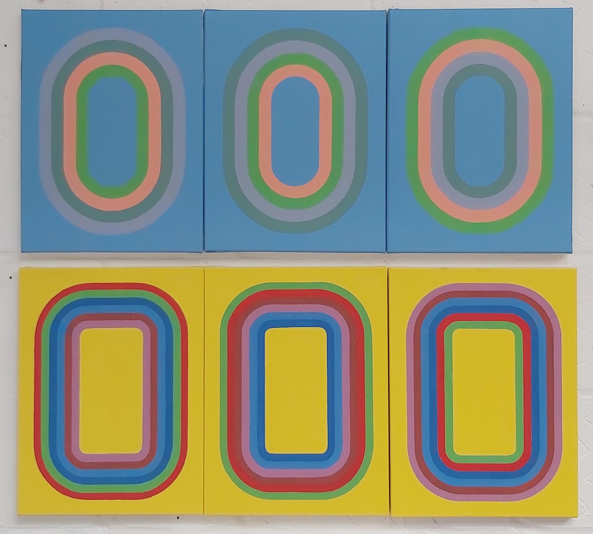 Shubbak (Triptych 1 & 2) 2020 Acrylic on Canvas 40 x 30 cm x 6