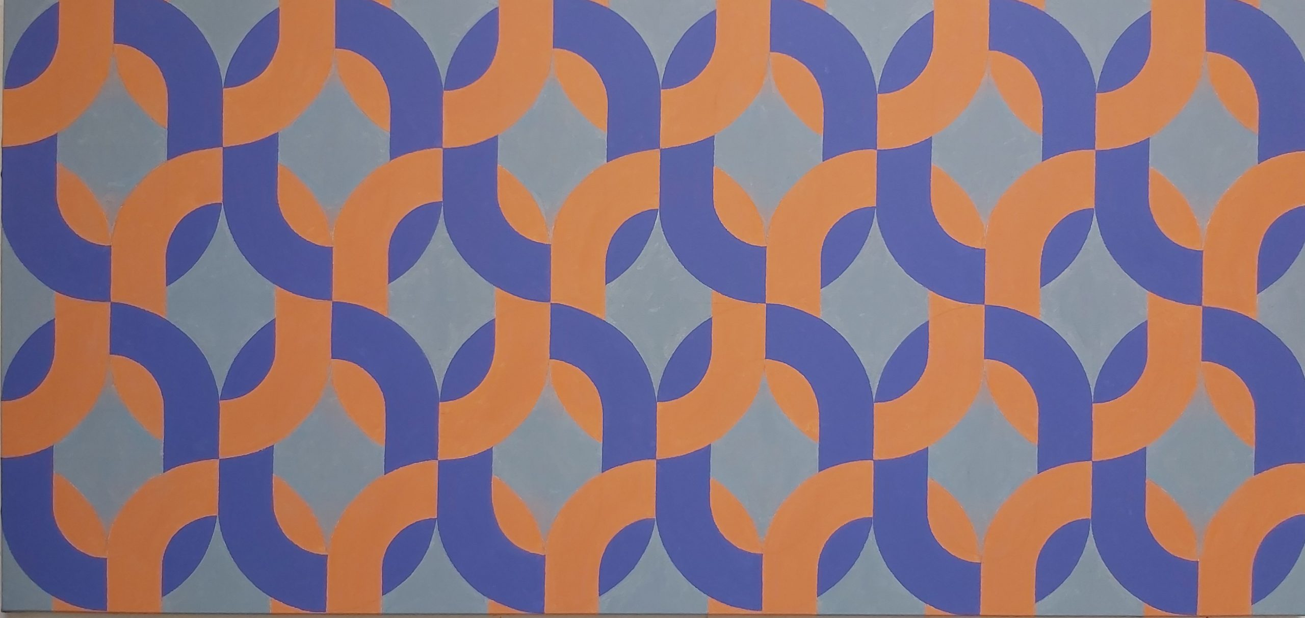 Silsila (Orange Purple) 2020 Acrylic on Canvas 86 x 181 cm