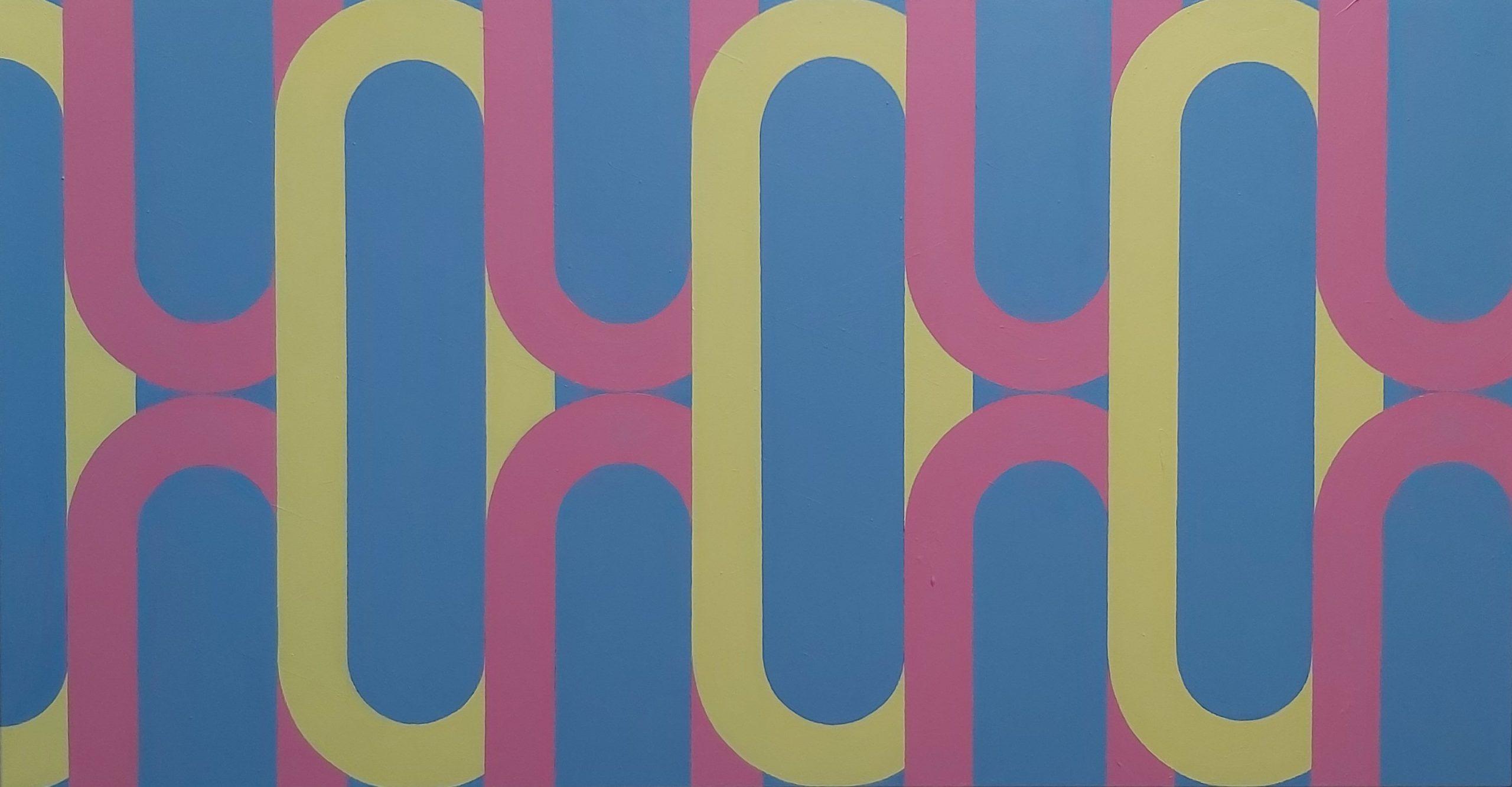 Silsila (Red Yellow Blue) 2020 Acrylic on Canvas 89 x 169 cm