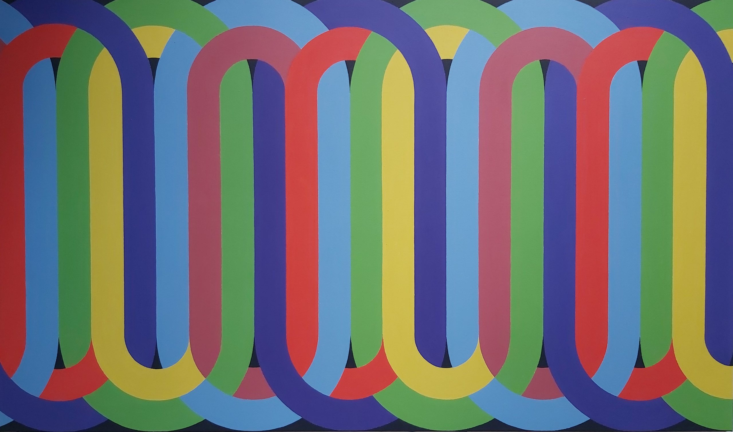 Silsila (Rhythm) 2020 Acrylic on Canvas 107 x 175 cm