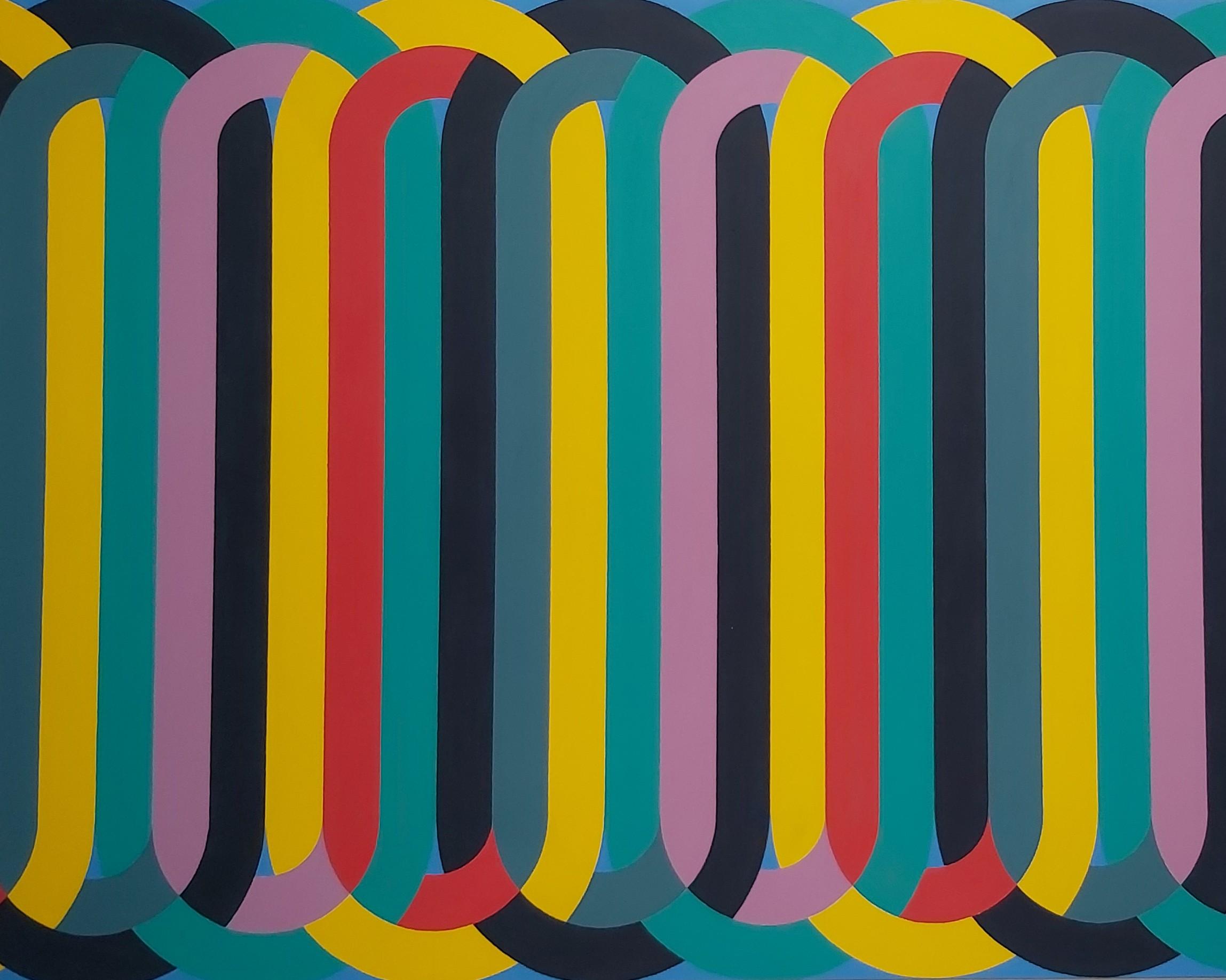 Silsila (Script) 2020 Acrylic on Canvas 162 x 207 cm